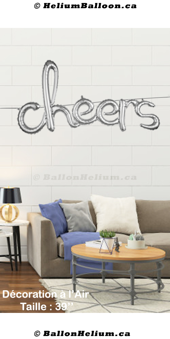 Cheers Script ( Gold or Silver)