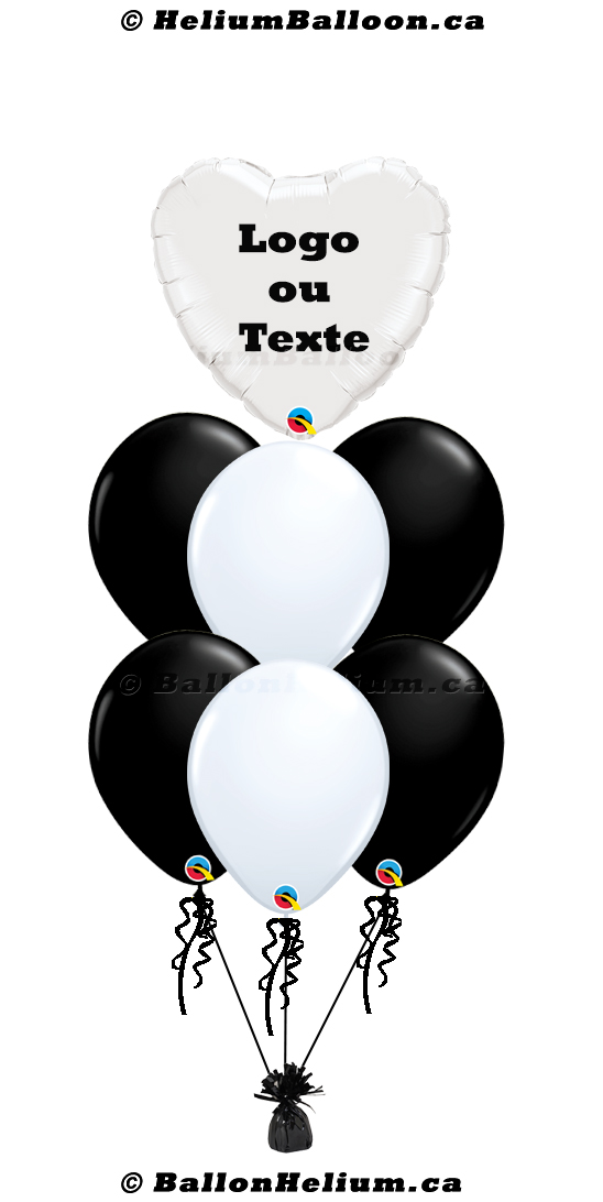 Personalized balloon_17'' Heart_Name/Logo/Message